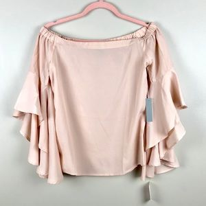 NWT CHELSEA 28 Off The Shoulder Bell Sleeve Top